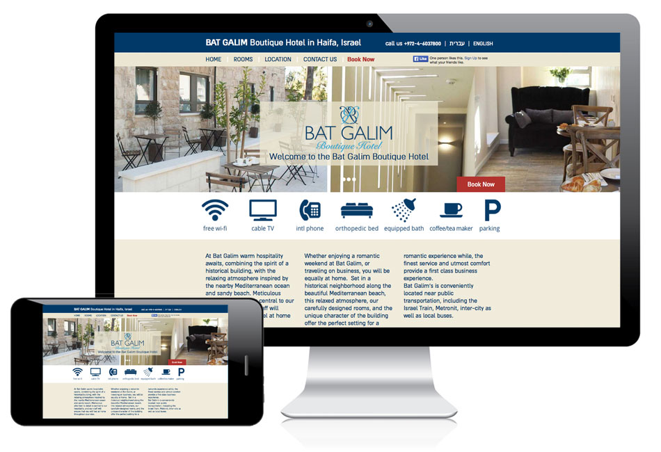 Web design Bat Galim Boutique Hotel