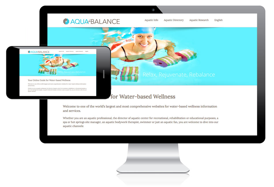 responsive design website aqua4balance